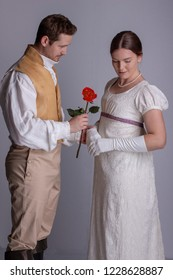 Regency couple in love