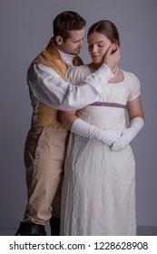 Regency couple in love