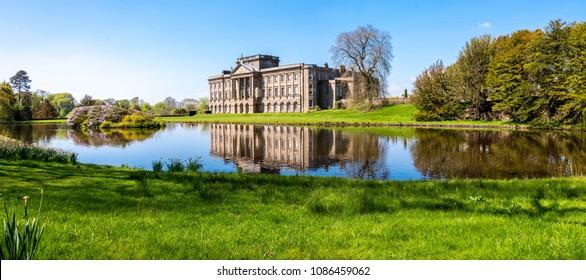 regency english stately home in gardens