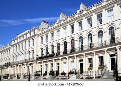 Regency Georgian terraced town houses in, London ,England