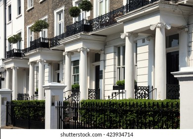 Regency Georgian terraced town houses in London's, Kensington, England