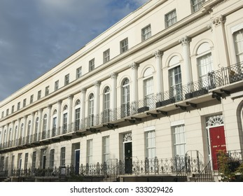 Regency style terraced houses and offices in Cheltenham