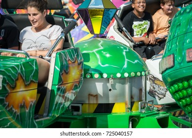 Regensburg, Bavaria, Germany, August 25, 2017, Joyride on a folk festival , Germany