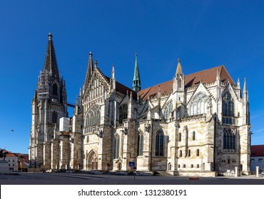 Regensburg Cathedral St. Peter, Germany in a beautiful summer day