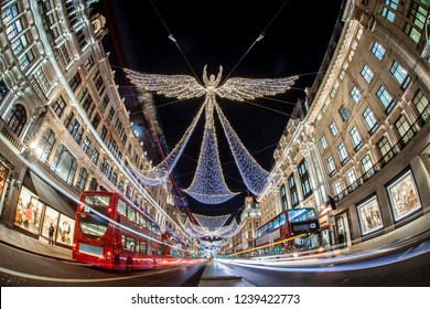 Regent street decorated for Christmas