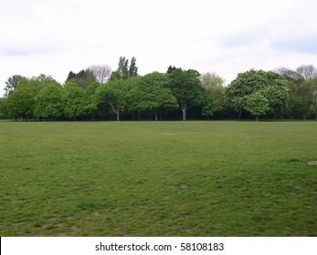 Regent's Park landscape in London, England, UK
