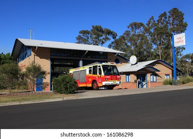 REGENTVILLE, AUSTRALIA - OCTOBER 23, 2013:  Rural Fire Service Cumberland Zone Headquarters located at the base of Blue Mountains has 16 Brigades and over 1000 firefighters and support personnel