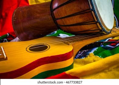 reggae bong and ukulele