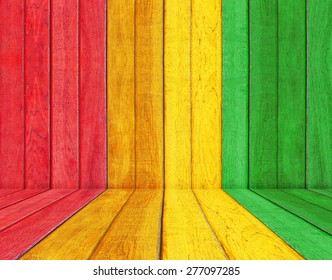 reggae color with wood floor Background