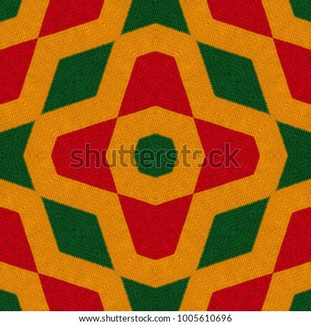 Reggae colors crochet knitted