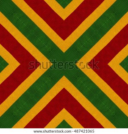 Reggae colors flag crochet