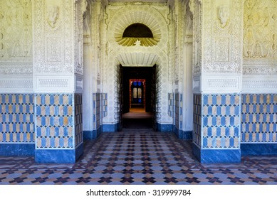 REGGELLO, ITALY - SEP 20: The beautiful oriental style indoor of Sammezzano Castle on SEP 20, 2015 in Reggello, Tuscany, Italy.