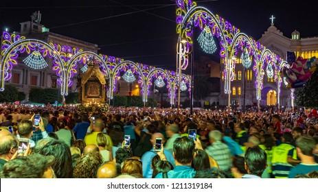 Reggio Calabria, Italy/Italy - September 2018 : Religious event dedicated to the Madonna