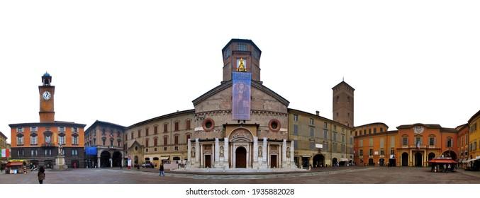 Reggio Emilia, Italy - 04.02.2011: The Duomo square of Reggio Emilia
