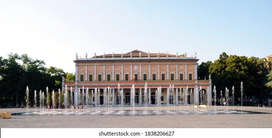 Reggio Emilia, Italy - 05.20.2009: The Romolo Valli theater