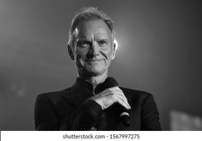 Reggio Emilia / Italy -  11/20/2019: The singer Sting at the Griminelli & Friends concert