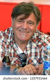 Reggio Emilia/Italy - 09/22/2012: Beppe Carletti, Italian keyboardist founder of the Nomadi musical group at the concert Campovolo in Reggio Emilia
