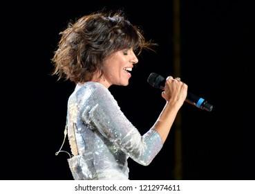 Reggio Emilia/Italy - 09/22/2012: The Italian singer Giorgia Todrani, a singer,songwriter, composer, multi-instrumentalist, musician and Italian record producer at the concert in Reggio Emilia