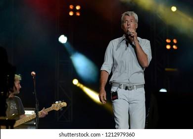 Reggio Emilia/Italy - 09/22/2012: The Italian singer Claudio Baglioni, a singer,songwriter, composer, musician and Italian record producer at the concert Campovolo in Reggio Emilia