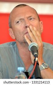 Reggio Emilia/Italy - 09/22/2012: The Italian singer Biagio Antonacci, a singer, songwriter, composer, musician and Italian record producer at the concert Campovolo in Reggio Emilia