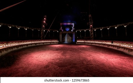 Reggio Emilia/Italy - 10/14/2018: Empty interior of the Darix Togni circus