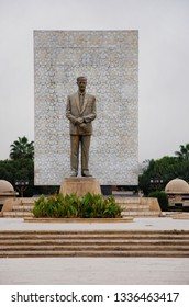 The regime has built a monument to dictator Hafez Assad. There are many monuments of the Assad family in the country. Syria before the war. Hama, Syria, Middle East. November 19, 2007.