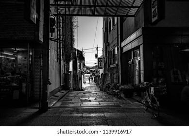 Chūgoku(San'in-San'yō) region, Japan, January 2017: My little town