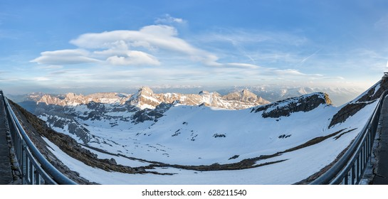 Säntis Region Mountains Panorama HDR
