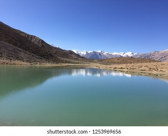 Region- Spiti Valley. Dhankar lake located above 12k ft above sea level. One of the Holy lake for budhist community in Spiti Valley