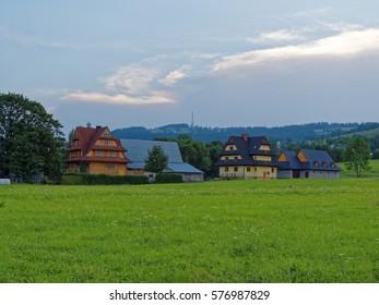 Regional architecture samples in Zakopane/Poland/Europe