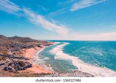 Regional Park of Calblanque (Beautiful beach of Calblanque, Murcia, Spain)