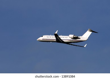 Regional passenger airplane few moments after takeoff, more photos in portfolio