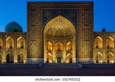 The Registan, the heart of the ancient city of Samarkand - Uzbekistan. Bibi-Khonim masjidi.