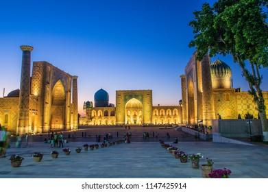 Registan Madrasahs at Samarkand, Uzbekistan