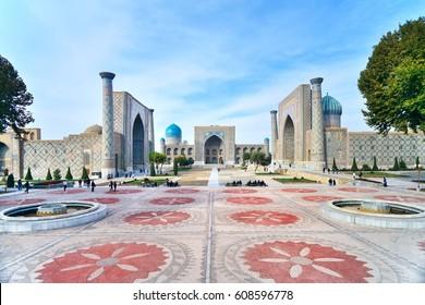 Registan Square, Shah-i-Zinda - UNESCO World Heritage, Samarkand, Uzbekistan