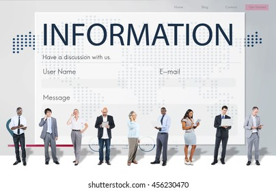 Register Enquiry Online Web Page Concept