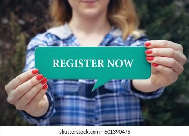 Register Now, Technology Concept