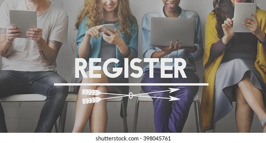Register Registration Apply Membership Concept