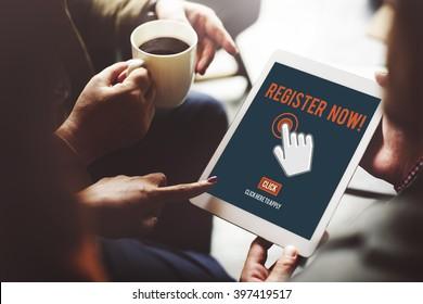 Register Registration Enter Apply Membership Concept