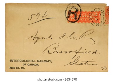 Registered Canadian Letter dated 1880's.