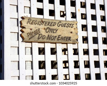 Registered guests only sign