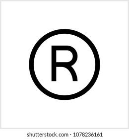 Registered Trademark Icon Raster Art Illustration