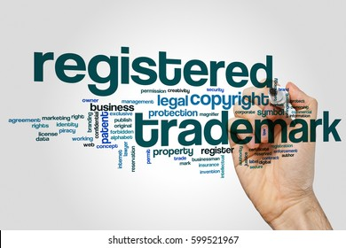 Registered trademark word cloud concept