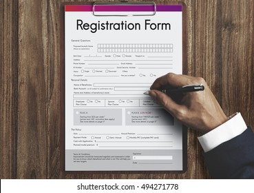 Registration Application Paper Form Concept