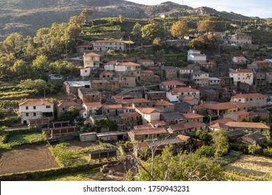 Regoufe rural village, lost in the middle of Serra da Freita, in Arouca, typical village in Portugal