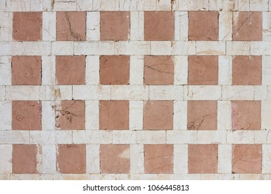 Regular architectural pattern made of stone