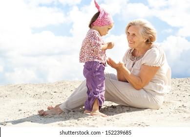 Regular fun weekend spent with her granddaughter
