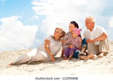 Regular fun weekend spent with their granddaughter