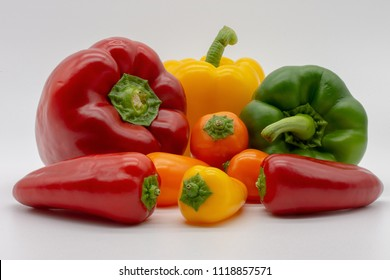regular and mini peppers