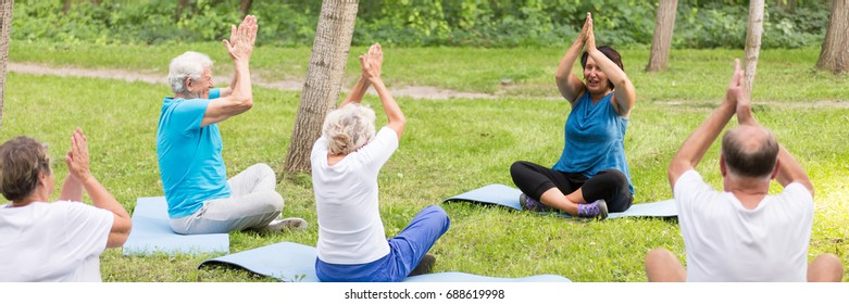 Regular physical activity in the city park for seniors
